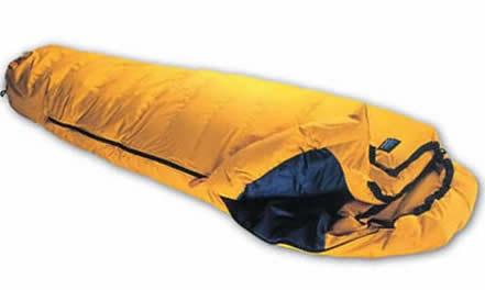 Saco de dormir de pluma, el más abrigado para acampada extrema