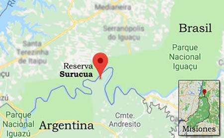 Surucuá Reserva & EcoLodge La Reserva Surucua es parte de la península más al norte de la provincia de Misiones, bordeando el río Iguazú, que separa a Argentina de Brasil.