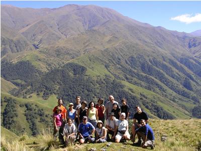 Senderos del Aconquija, el grupo de trekking