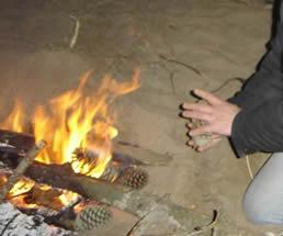 Fuego en la arena
