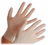 El uso de los guantes de latex