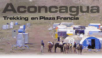 Trekking en Plaza Francia. Aconcagua - Mendoza
