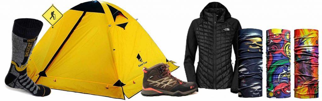 productos para senderismo y trekking Lista de material para senderismo Guía de artículos para hacer trekking.
