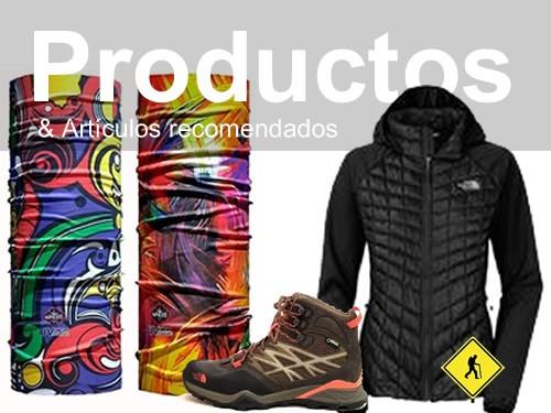Productos de senderismo y artículos para excursionismo