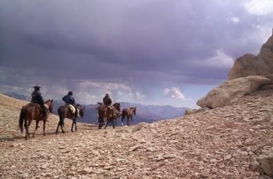 Cruce de los andes a caballo como San Martin