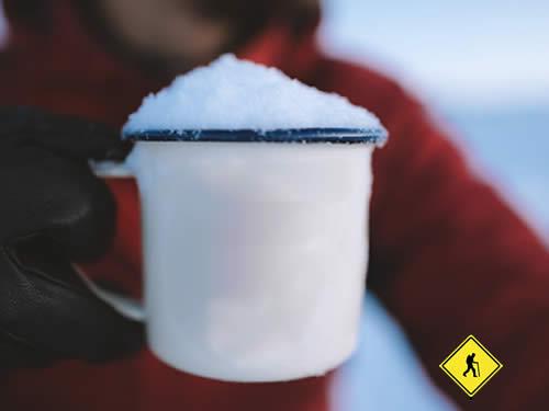 derretir nieve para tener agua potable