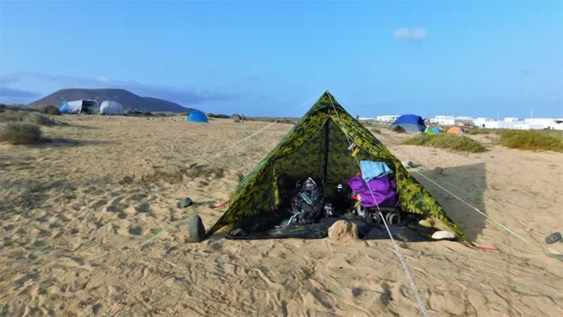 Acampada Isla La Graciosa Lanzarote Canarias