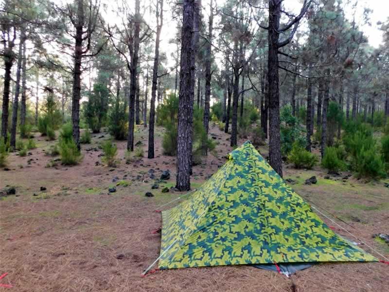 Tienda para Acampada libre en España