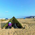Acampada libre en desierto